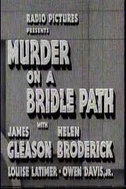 1936 murder on a bridle path